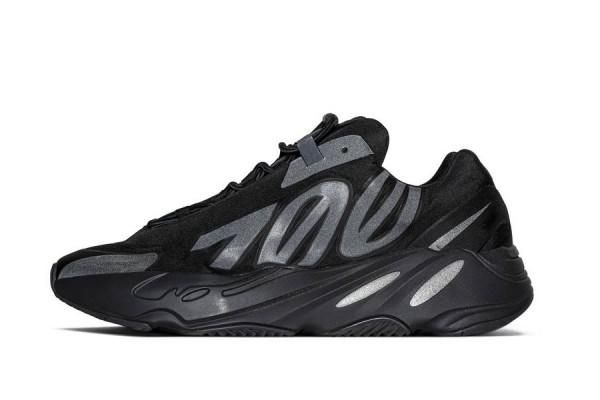 Fake Yeezy 700 MNVN 'Triple Black' Mens Refletive Sneaker
